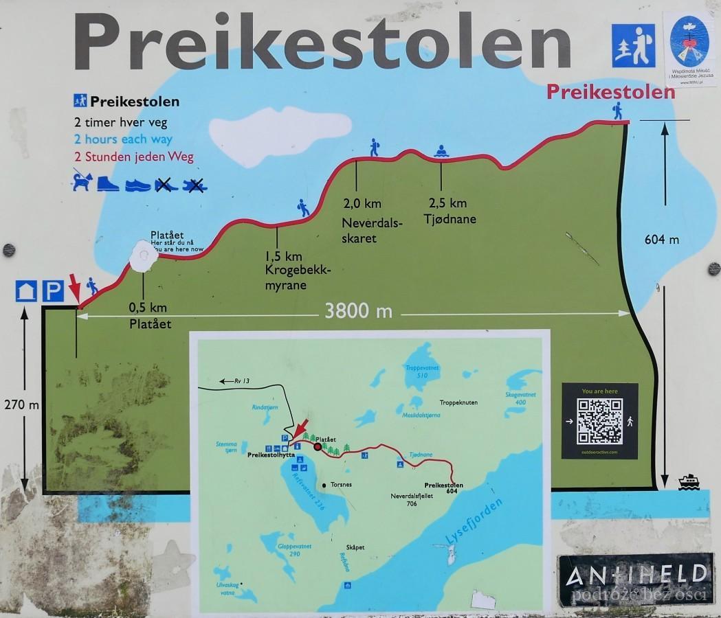 Trekking Na Preikestolen Pulpit Rock W Norwegii Informacje
